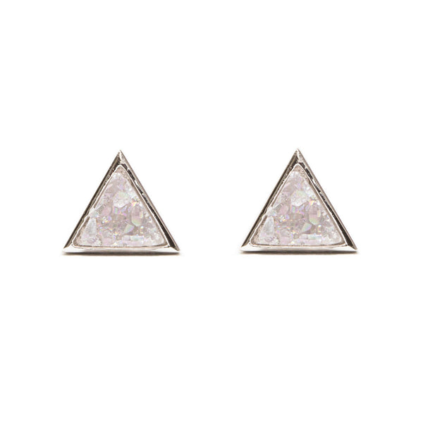 Tiny Triangle Studs | Druzy
