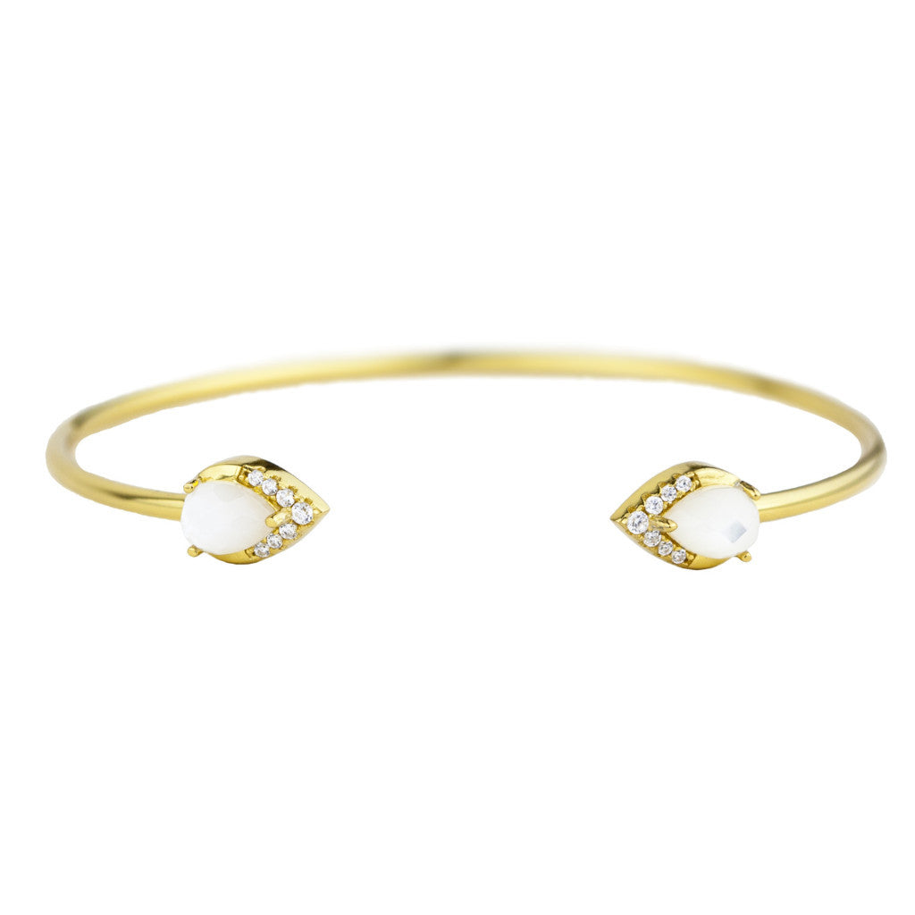 Ava Cuff | Gold | Mother of Pearl