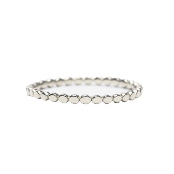 Dainty Beaded Ring | Silver