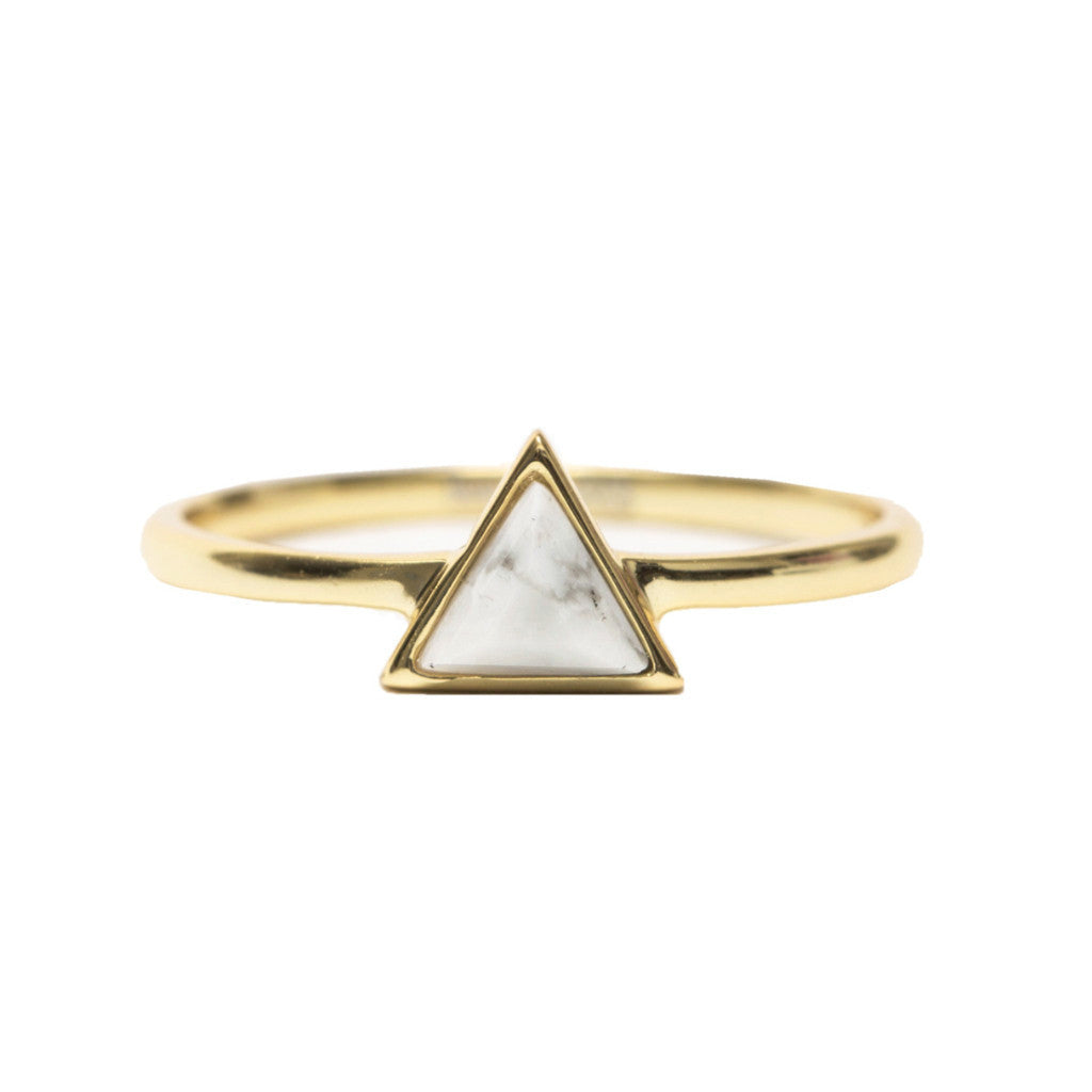 Mini Triangle | White | Gold