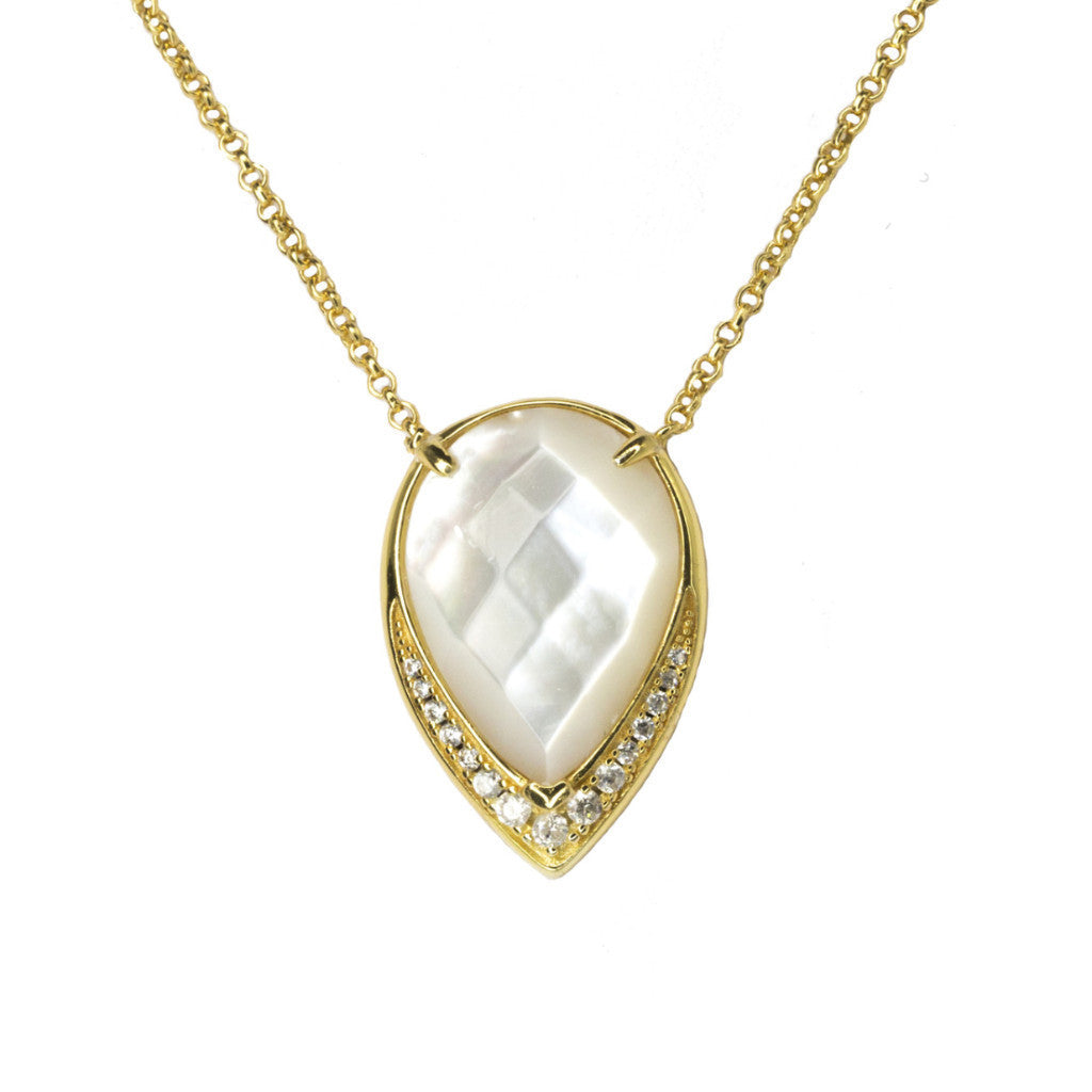 Ava Large | Mother Of Pearl | Gold
