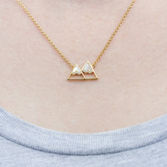 Mountain Pendant | Gold