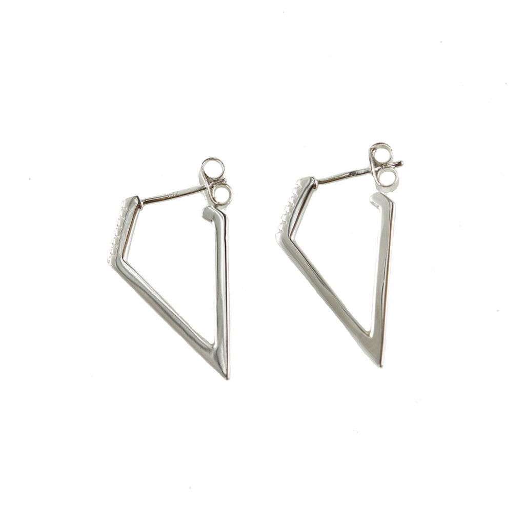 Diamond Hoops | Silver