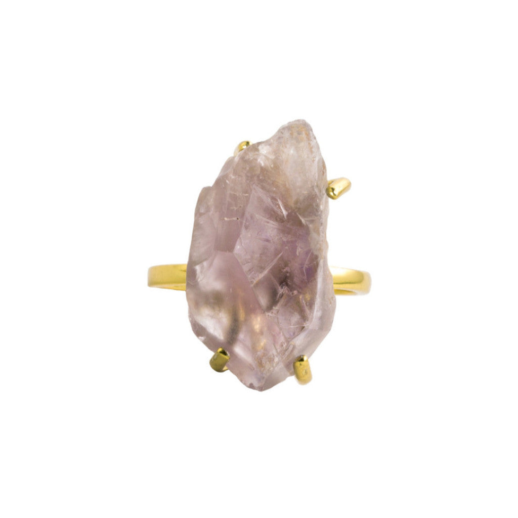 Raw Gem | Amethyst | Gold