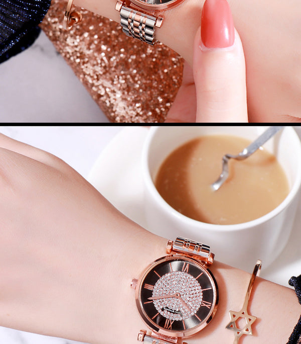 Minimalist fashion cheap small lady quartz sky star watch 2020 NEW