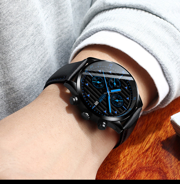 Three eye six pin Waterproof  Mechanical Luminous men's watches