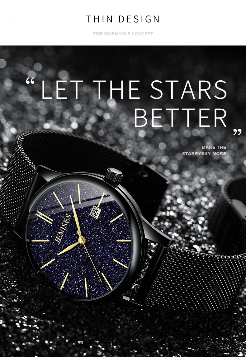 Star ultra thin watch fashion men's watch steel band Watch