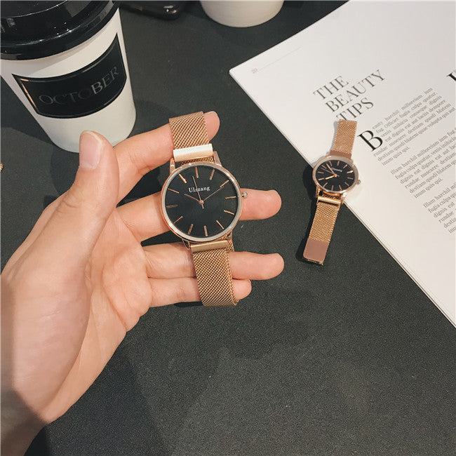 Watches male and female students couple models Magnet magnet strap