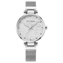 Elegant diamond inlaid women's watch with Steel Watch