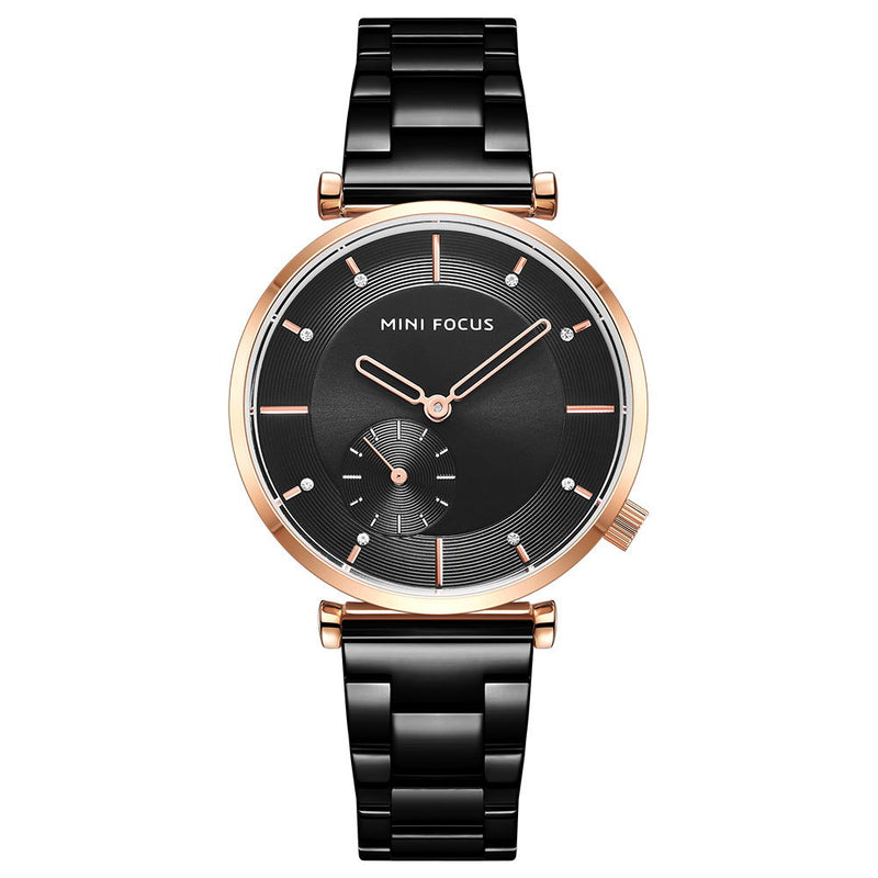 Casual fashion trend women's simple steel band Watch