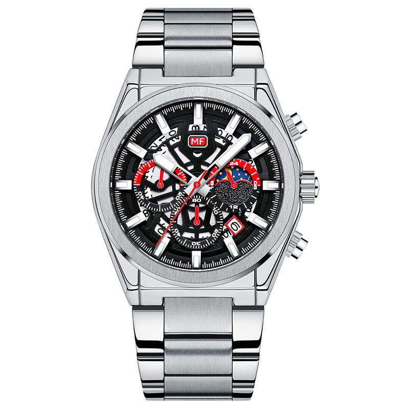 Chronograph Sport Men's three eye six pin Watches