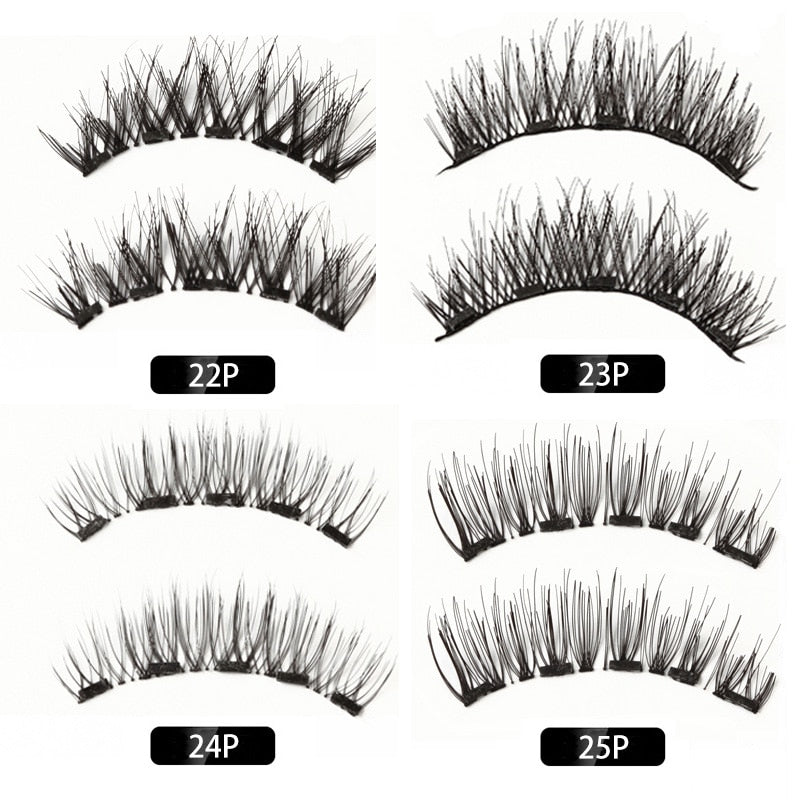 MB Magnetic Eyelashes With 5 Magnets 3D False Lashes Natural For Mink Eyelashes Extension Long Reusable faux cils magnetique 22P