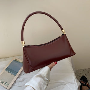 Solid Color PU Leather Handbags For Women