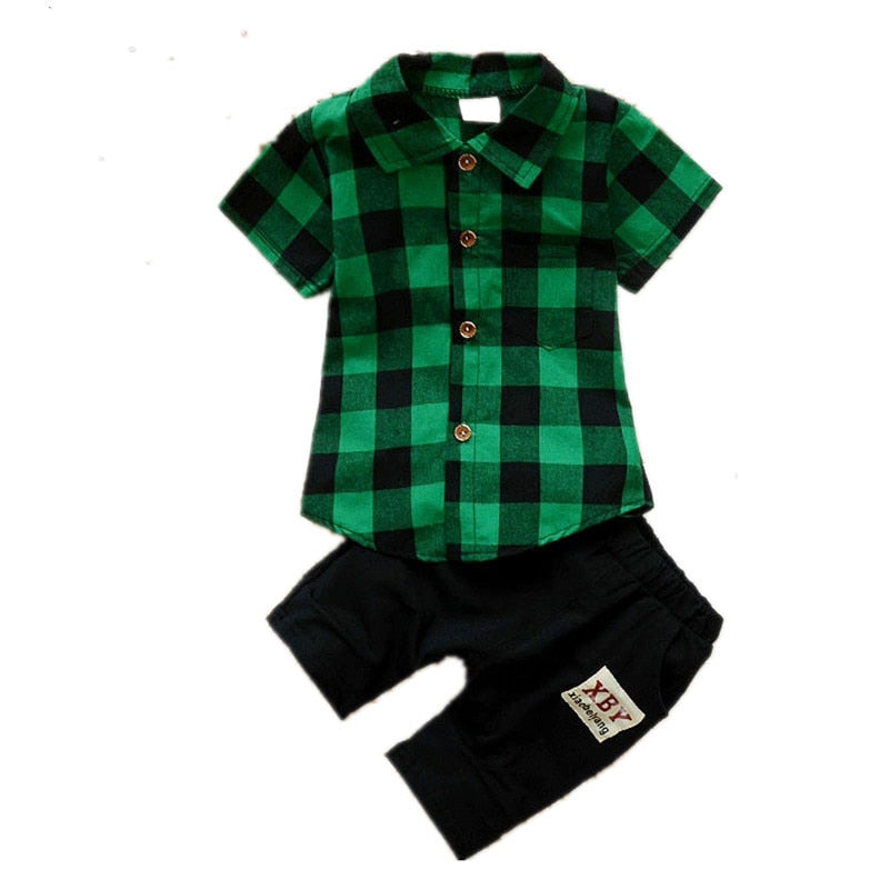 summer Boy's clothes Short-sleeved shirt and shorts 2 pieces Clothing Sets for Boys Kids clothes children's clothing