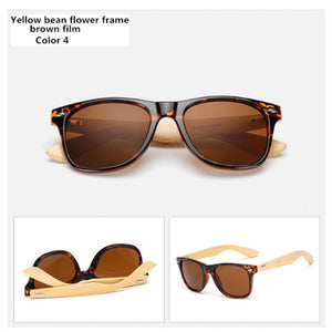 Vintage Wooden Leg Sunglasses for Women