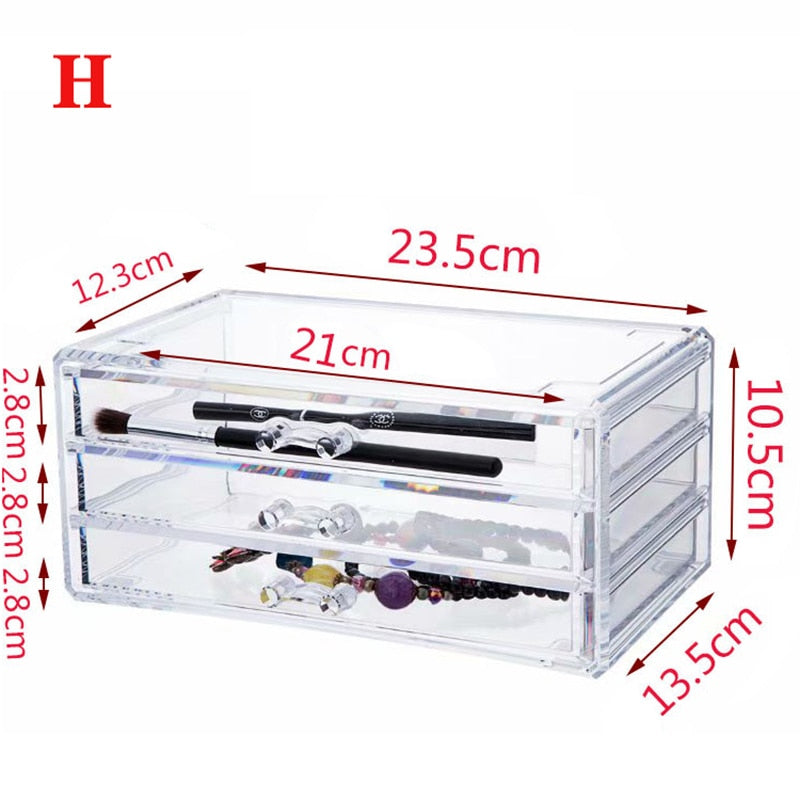 Acrylic Makeup Organizer Jewelry Storage Box