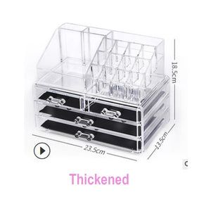 Acrylic transparent Makeup Organizer Storage Boxes