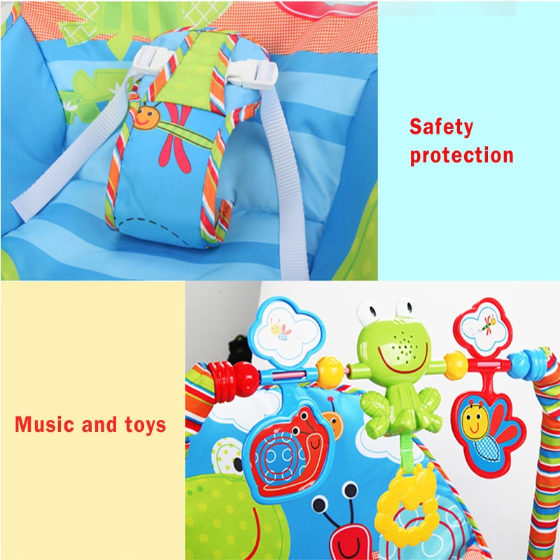 Multi-function Baby Rocking Chair For Newborn Kids Bassinet Cradle Seat With Light Music Electric Rocking Hamaca Bebe Swings