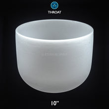 "Load image into Gallery viewer, Crystal Singing Bowl - 10 Inch - 5th Chakra ""Throat"""