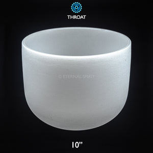 "Crystal Singing Bowl - 10 Inch - 5th Chakra ""Throat"""