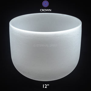 "Crystal Singing Bowl - 12 Inch - 7th Chakra ""Crown"""