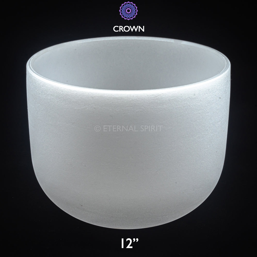 Crystal Singing Bowl - 12 Inch - 7th Chakra