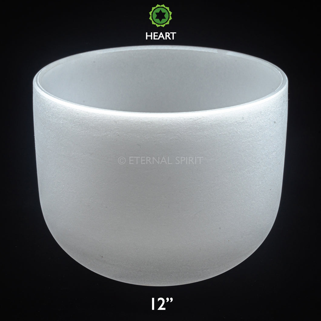 Crystal Singing Bowl - 12 Inch - 4th Chakra