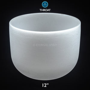 "Crystal Singing Bowl - 12 Inch - 5th Chakra ""Throat"""
