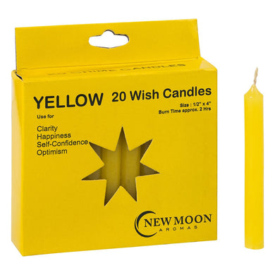 NEW MOON AROMAS - YELLOW WISH CANDLES