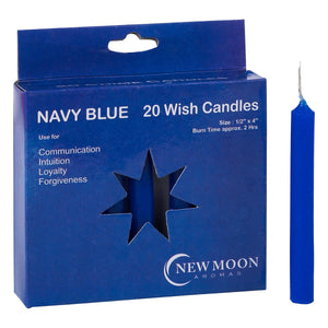 NEW MOON AROMAS - NAVY BLUE WISH CANDLES