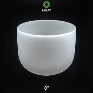 "Crystal Singing Bowl - 08 Inch - 4th Chakra ""Heart"""