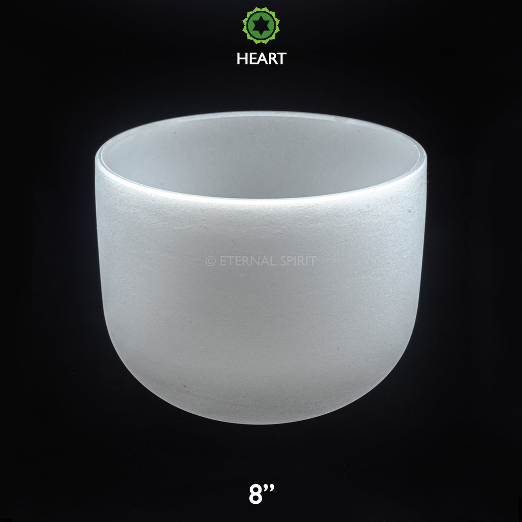 Crystal Singing Bowl - 08 Inch - 4th Chakra