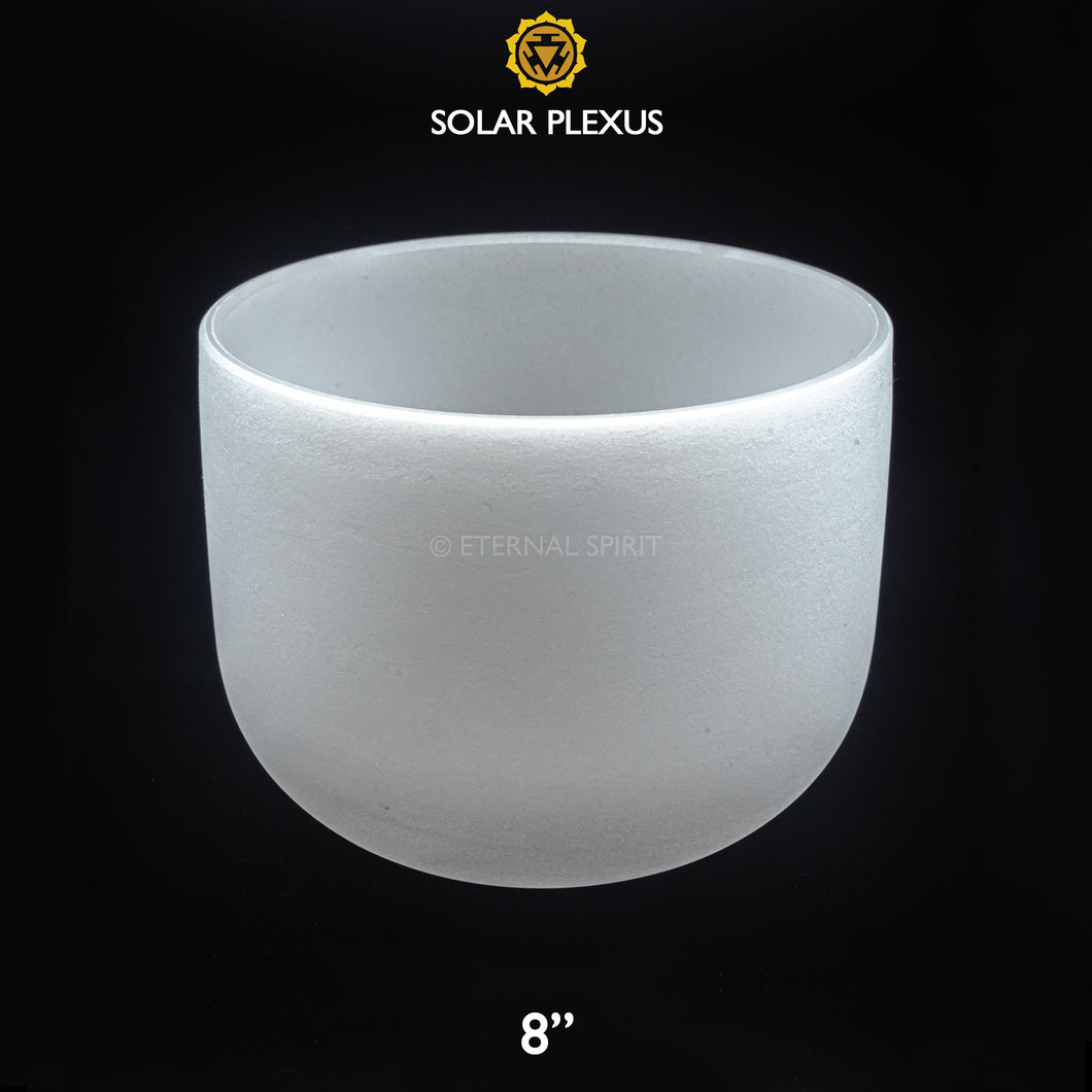 Crystal Singing Bowl - 08 Inch - 3rd Chakra