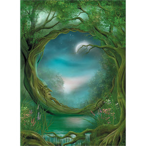 "Greeting Card - Tree Free ""Day And Night"""