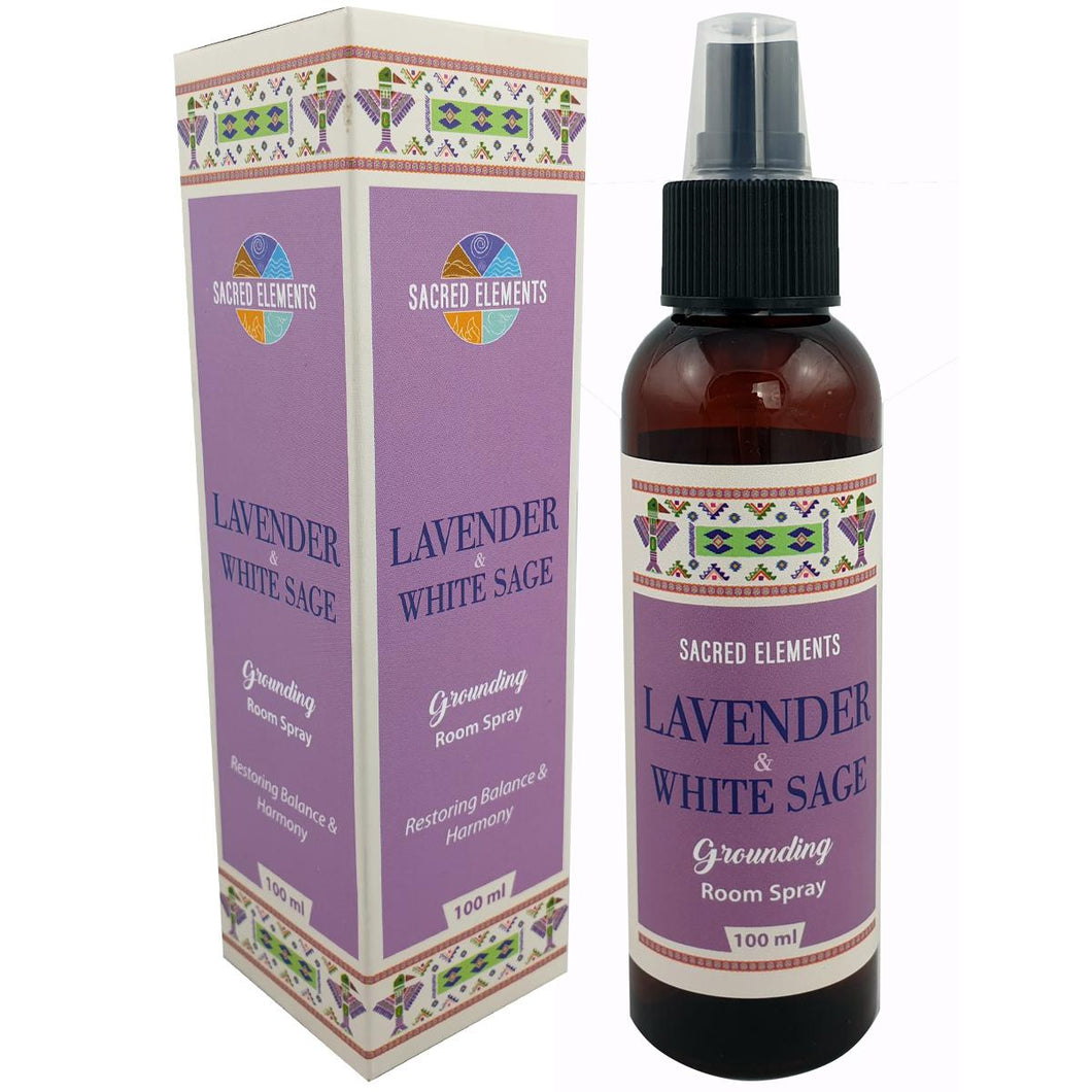 SACRED ELEMENTS - LAVENDER & WHITE SAGE GROUNDING ROOM SPRAY