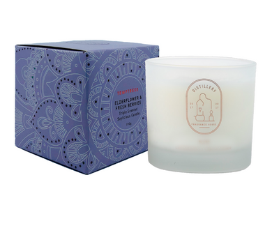 DISTILLERY SOY CANDLE - ELDERFLOWER & FRESH BERRIES