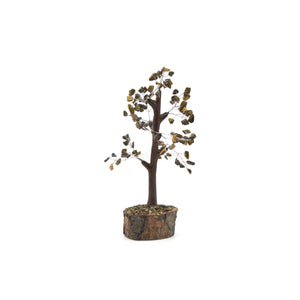 "Crystal Tree - 18cm ""Tiger Eye (Yellow)"""