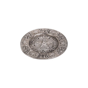 "Incense Holder - Aluminium ""Pentacle"" Round"