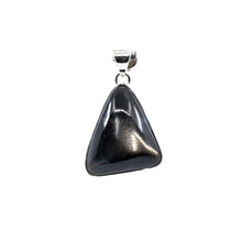 "Load image into Gallery viewer, Pendant - ""Sunstone (Black)"" Cabachon Teardrop #P116"