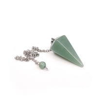 "Load image into Gallery viewer, Pendulum - ""Aventurine (Green)"" Faceted (S)"