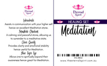 "Load image into Gallery viewer, Crystal Bag - Healing Set ""Meditation"""