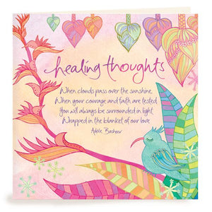 "Adele Basheer - Greeting Card Heartsong ""Healing Thoughts"""