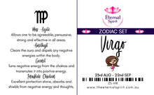 "Load image into Gallery viewer, Crystal Bag - Zodiac Set ""Virgo"""