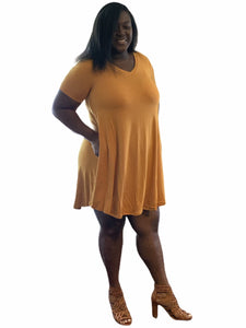 The Golden Summer Flare Swing Dress