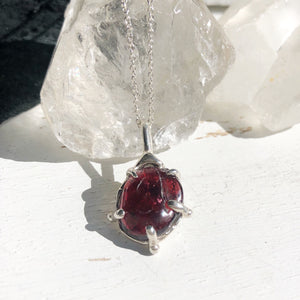 Garnet relic necklace- READY TO SHIP