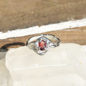 Garnet magic ring- READY TO SHIP