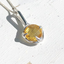 Load image into Gallery viewer, Citrine droplet necklace- READY TO SHIP