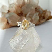 Load image into Gallery viewer, Citrine goddess ring- READY TO SHIP