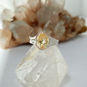 Citrine goddess ring- READY TO SHIP