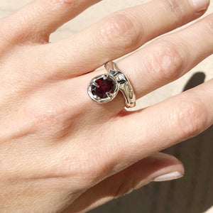 Garnet relic ring- READY TO SHIP